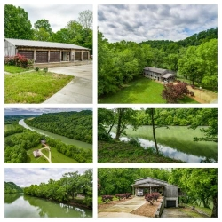 3+ Ac W/ Rustic Hm/6 Bay Garage-On River